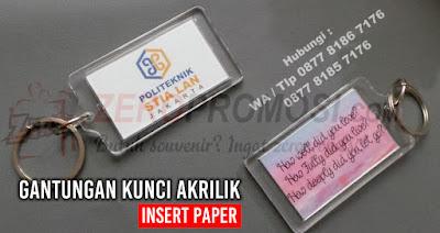 Gantungan Kunci Insert Paper Murah, Souvenir Gantungan Kunci Acrylic Insert Kertas, Ganci Akrilik Insert Paper Full Color