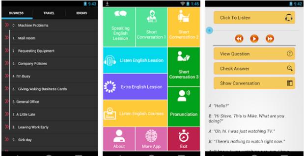 تطبيق Listen English Full Audio لتعلم تكلم الانجليزي للاندرويد