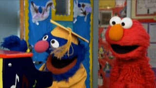 Professor Grover and Elmo play the piano. Sesame Street Preschool is Cool ABCs With Elmo.