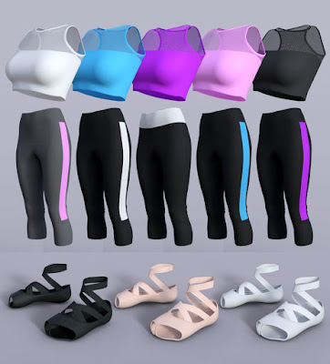 H/C Yoga Suits for Genesis 3 Female