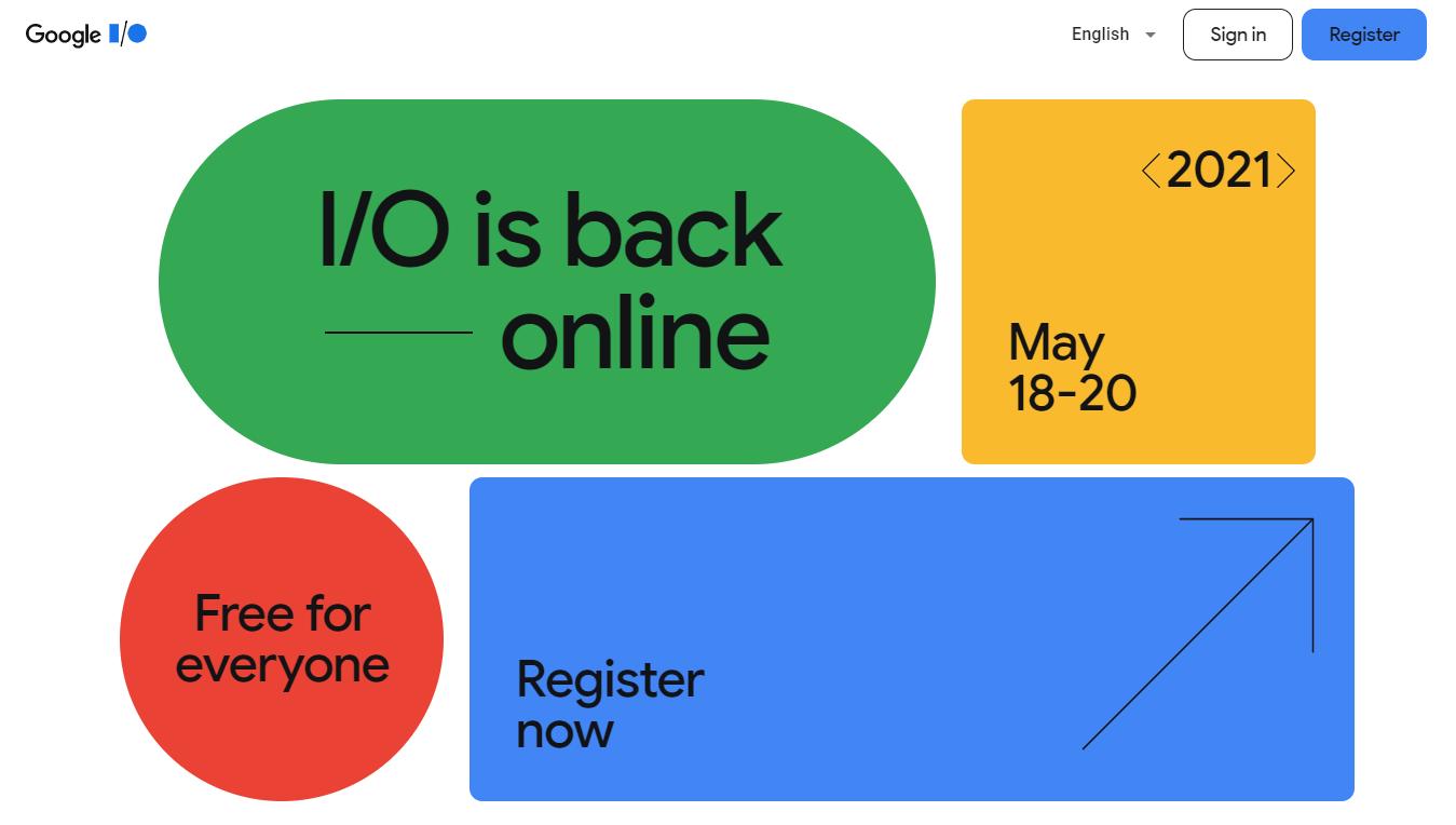 Evento Google I/O 2021, totalmente online dal 18 al 20 maggio