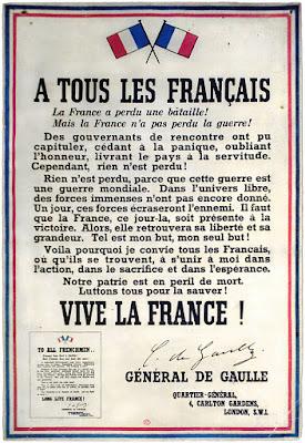 Panfletos pegados en la pared en la Francia ocupada para apoyar la resistencia