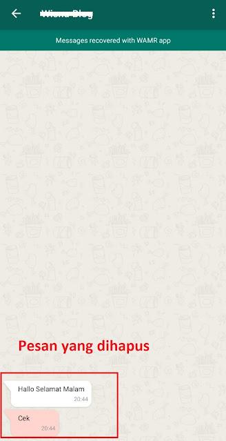 Cara Melihat Pesan Whatsapp yang Sudah Dihapus Tanpa Whatsapp GB