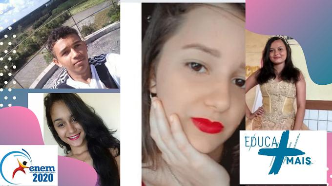 O Centro Educa Mais Raimundo Araújo comemora o belíssimo resultado dos alunos da 3ª série no  ENEM 2020