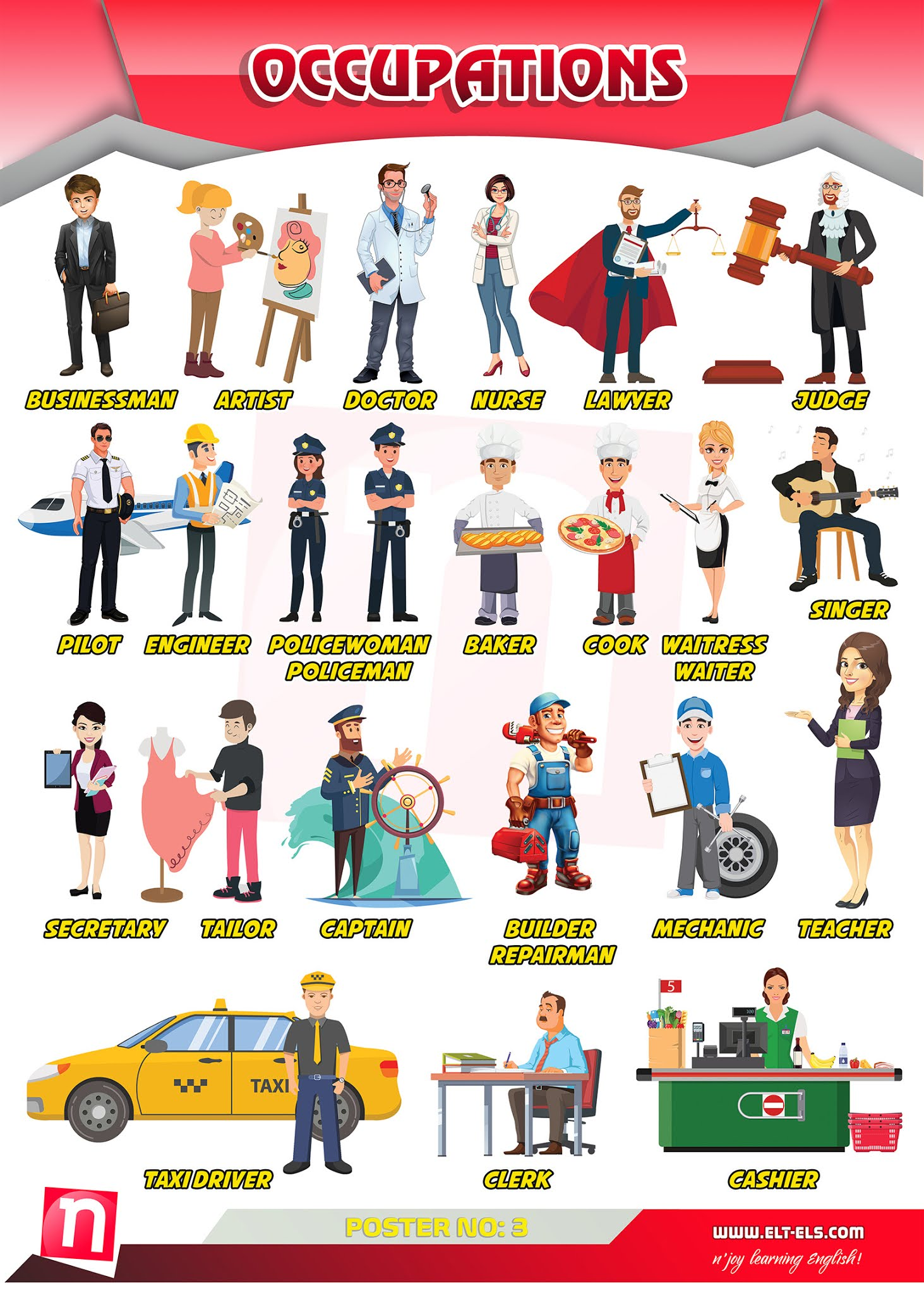 Occupations - Jobs in English