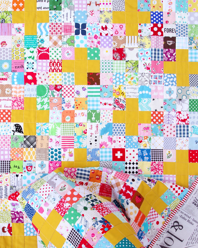 Scrappy Cross Quilt - Tutorial Available - © Red Pepper Quilts 2020