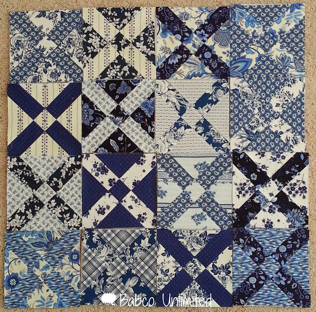 BabcoUnlimited.blogspot.com - Old Italian Quilt, Blue & White Quilt