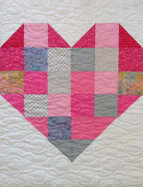 Heart Quilt - Project Linus UK South East Wales