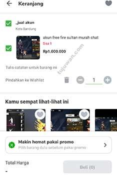 Cara beli akun FF sultan Free Fire