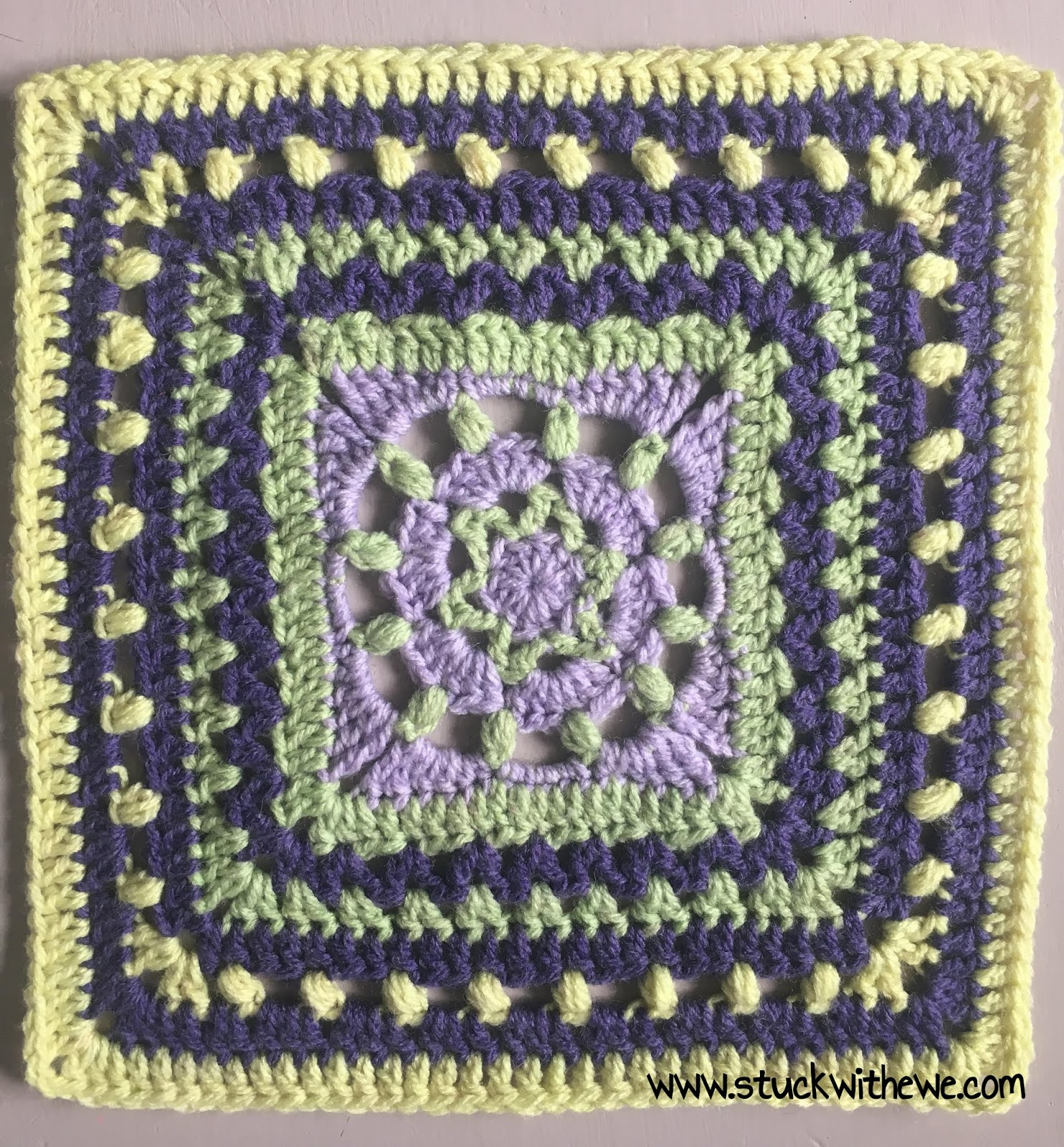Celestes Garden 12 Inch Afghan Square A Free Crochet Pattern
