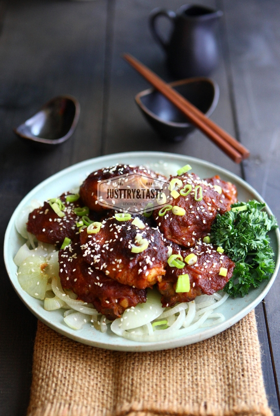 Resep Spicy Korean Chicken Bulgogi (Oven-Baked) JTT