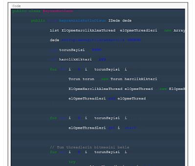 Bozuk Code Highlighting