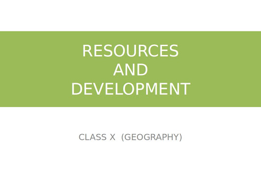Resource and Development - Seminar
