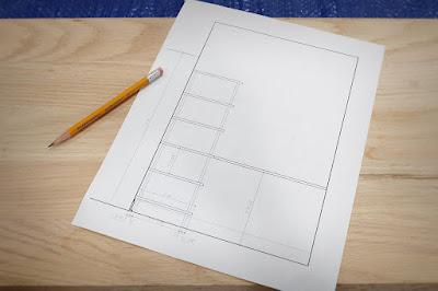 autocad drawing design shelving shelf diy wood build record vinyl album storage