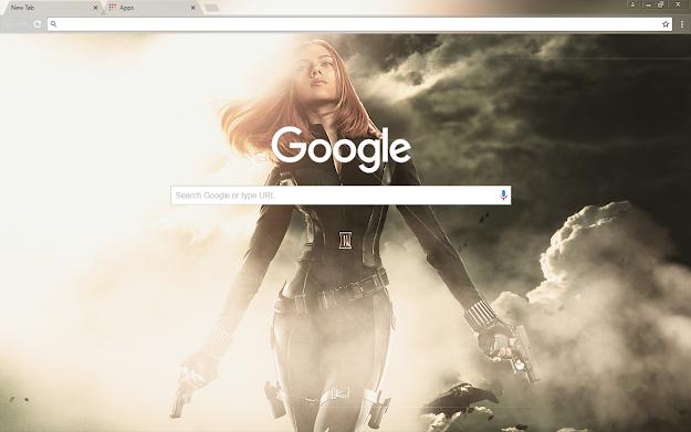 Black Widow Google Theme