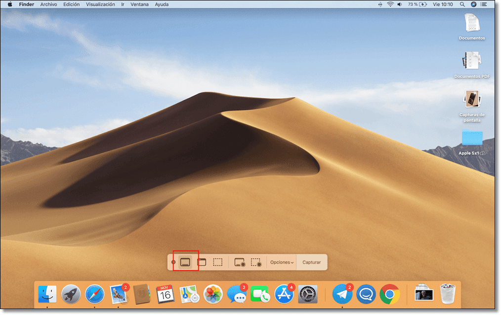 Capture the entire Mac screen