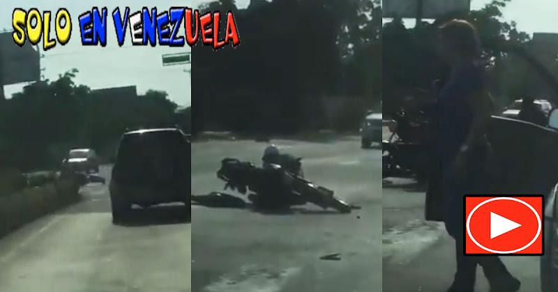 Gandola perdió un caucho que hirió a un motorizado en la avenida Soublette