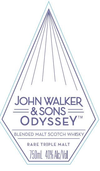 Johnnie Walker & Sons Odyssey Blended Malt Scotch Whiskey Rare Triple Malt