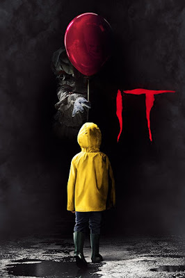 Movie poster for New Line Cinema's 2017 horror film It, starring Bill Skarsgard, Jaeden Martell, Sophia Lillis, Finn Wolfhard, Jack Dylan Grazer, and Wyatt Oleff