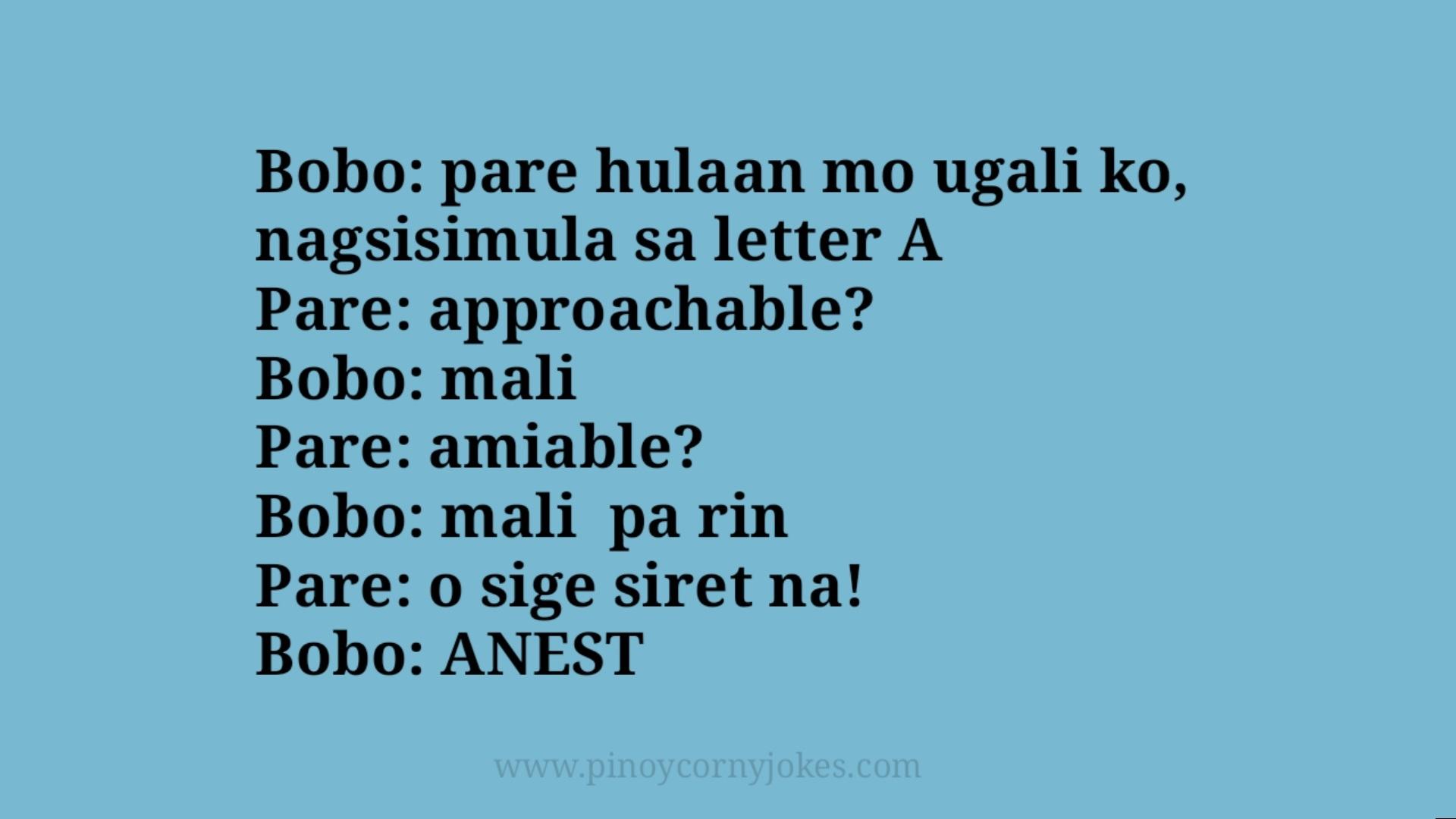 hulaan ugali tanga jokes pinoy
