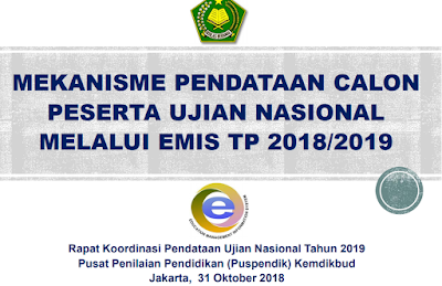 Mekanisme Pendataan CAPESUN Melalui EMIS Tahun Pelajaran 2018/2019