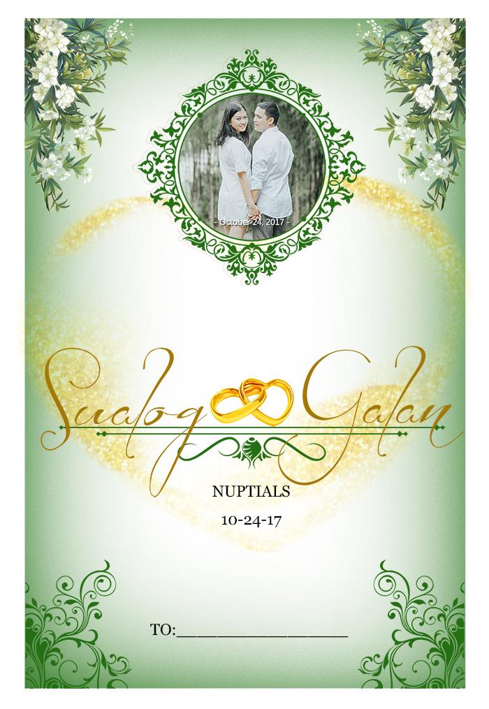 Wedding Invitation Wedding Menu Premium Template