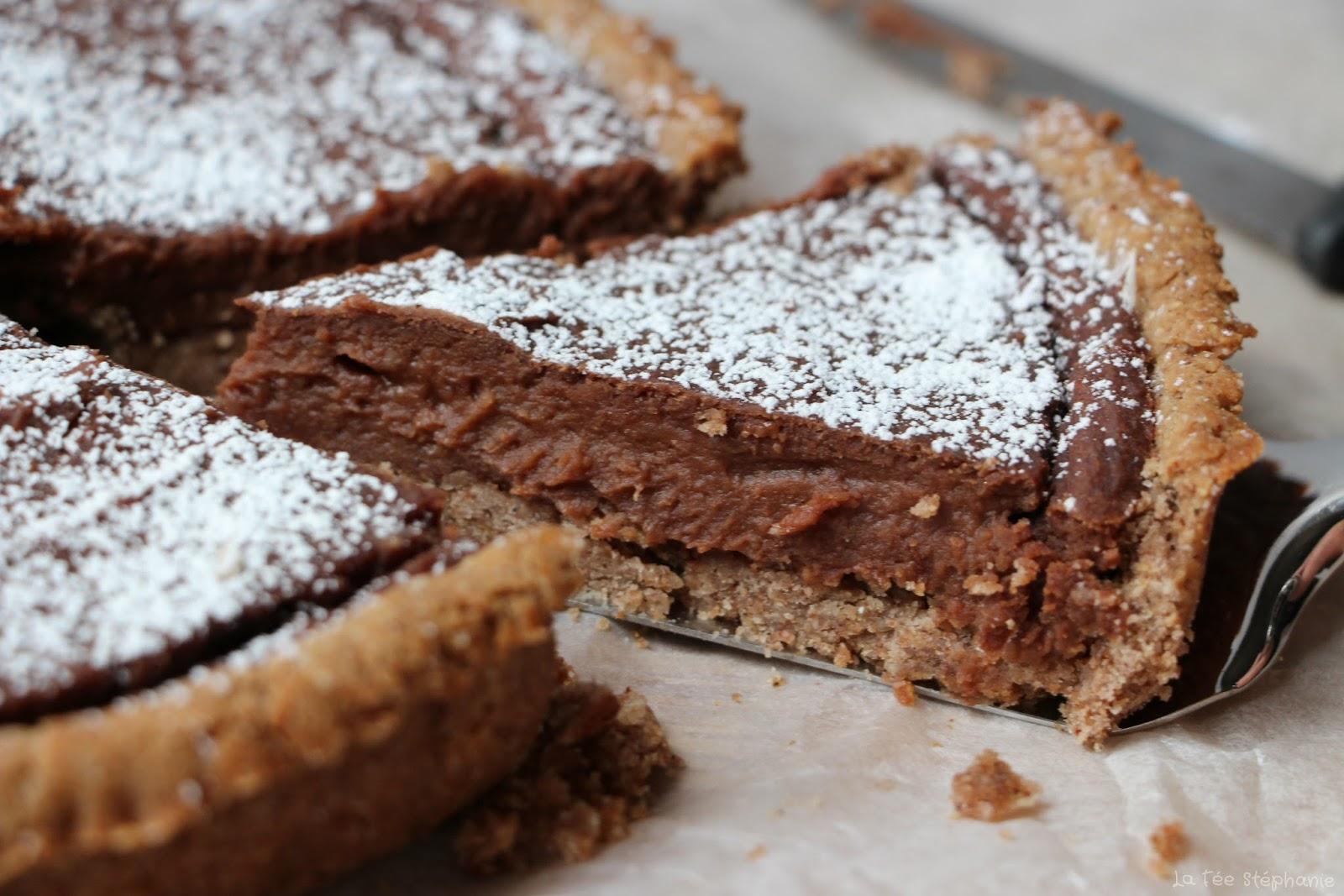 Crostata alla crema di castagne e cioccolato tarte la cr me de ch taignes et chocolat un - Dessert vegan sans gluten ...