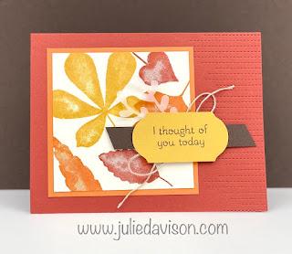 Stampin' Up! Love of Leaves Card ~ August-December 2020 Mini Catalog ~ www.juliedavison.com #stampinup