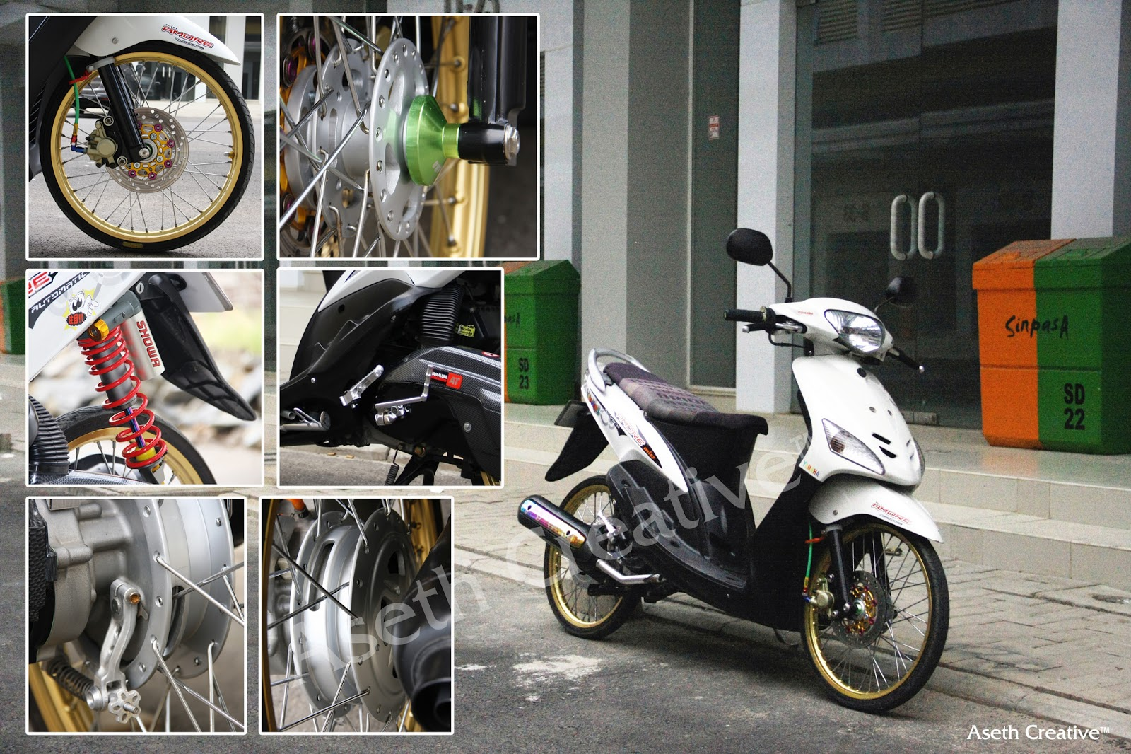 Oto Bike Modifikasi Honda Vario Techno 110 Yamaha Mio