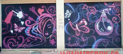 graffitis en persianas de peluquerías