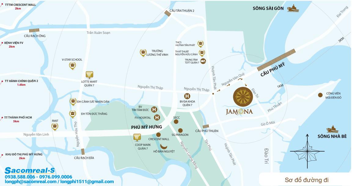 Bản đồ khu dân cư, liên kết vùng Jamona City