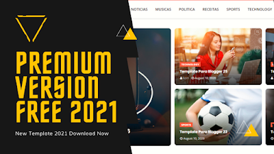 Azzam New Blogger Template 2021 Free Download