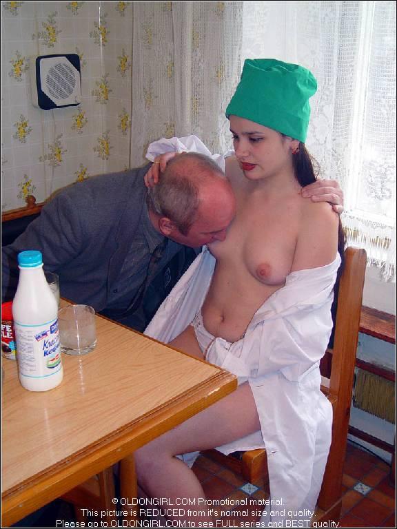 naked grandpa pose