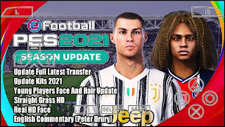 Download PES 2021 PPSSPP Chelito English Mod ST V1 Straight Grass HD & Real Faces