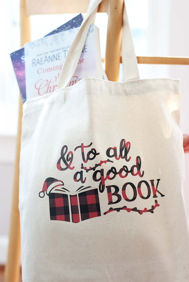 DIY Christmas Book Tote