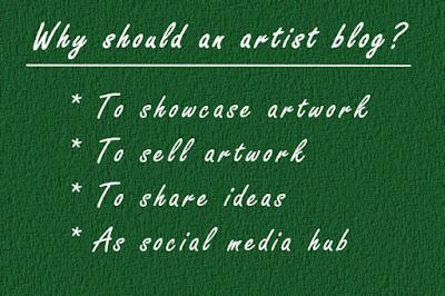why an artist blogs
