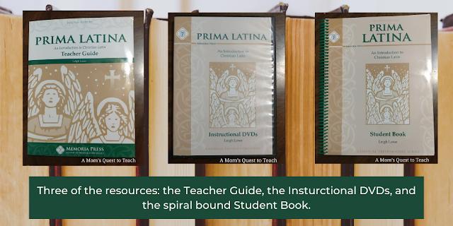 Prima Latina Teacher guide, DVD, and Student workbook