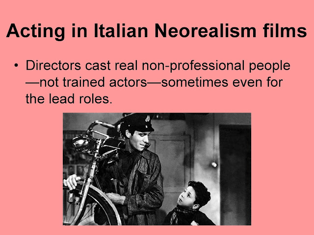 italian neo realism The italian neo-realist film movement only lasted for a brief ten-year period directly following world war ii twenty years of fascist rule in italy which strictly controlled what was permissible subject matter for the italian film industry, as well as the other arts, stifled an entire generation of.