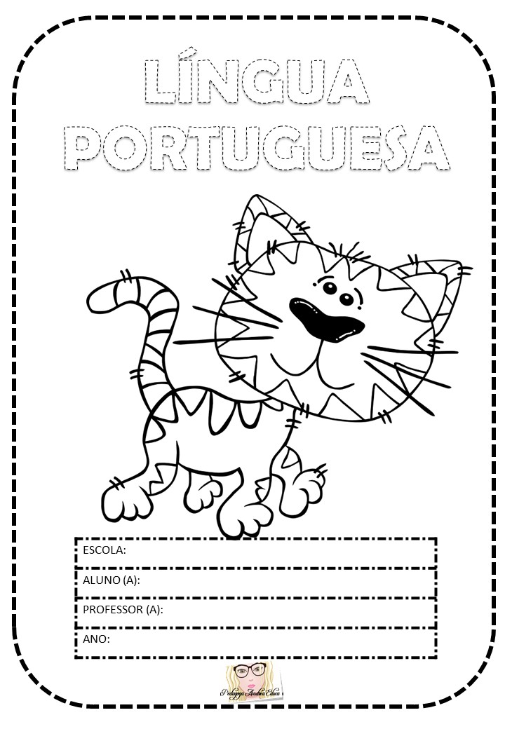 Capas De Caderno Para Imprimir Tema Animais Pedagoga Andrea Educa