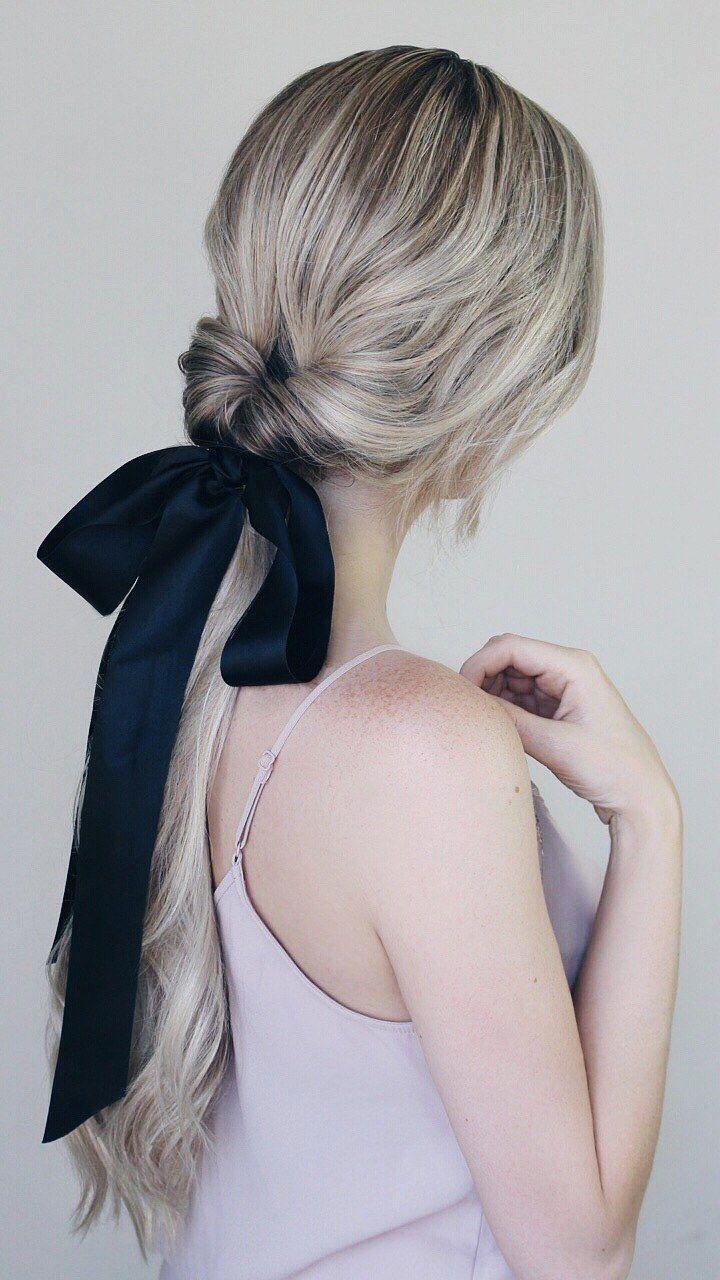 Peinado con lazo