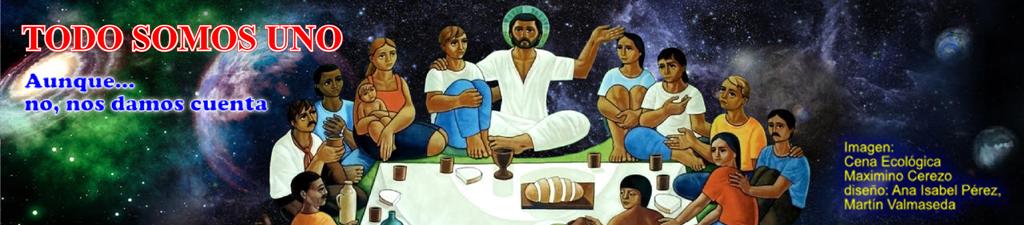Cena Ecológica, parte de la pintura de Maximino Cerezo arreglo de Ana Isabel Pérez y Martín Valmased