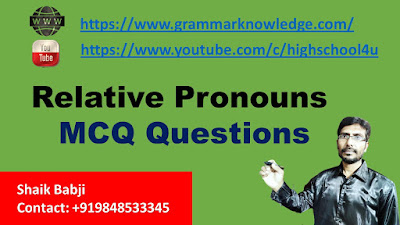 Relative Pronouns MCQ Questions