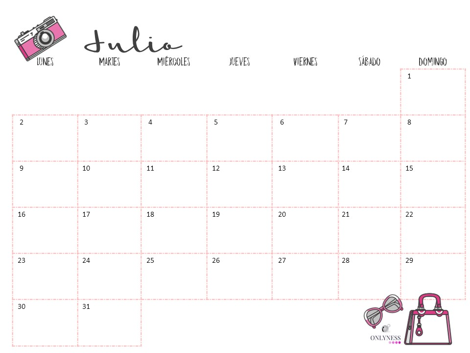 Calendario Julio 2019 Mr Wonderful.Calendario Descargable Julio 2018 Onlyness