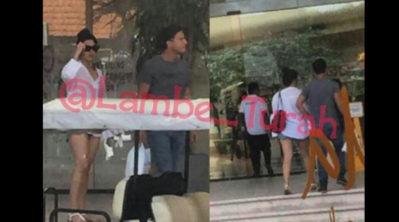Foto mirip Raisa dan Hamish Daud masuk hotel di Bali