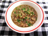 Risotto de arroz y lentejas con Boletus