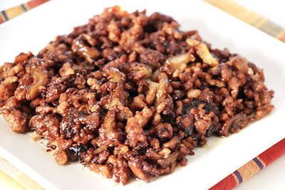 Chinese food - Aubergine fried with minced pork (spicy)