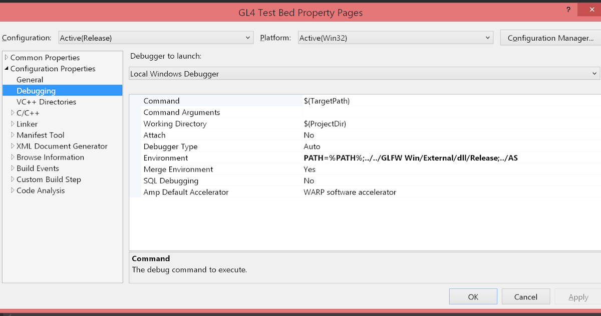 Tom's Programming Blog: Premake and Visual Studio