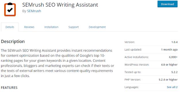 SEM Rush Search Engine Optimisation Writing Assistant