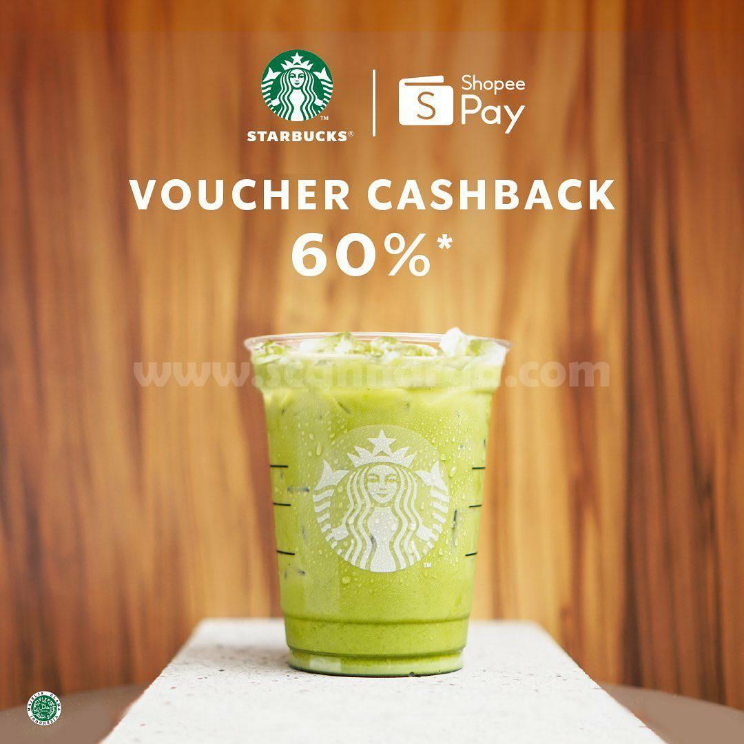 Promo Starbucks Voucher Cashback 60% Bayar Pakai Shopeepay