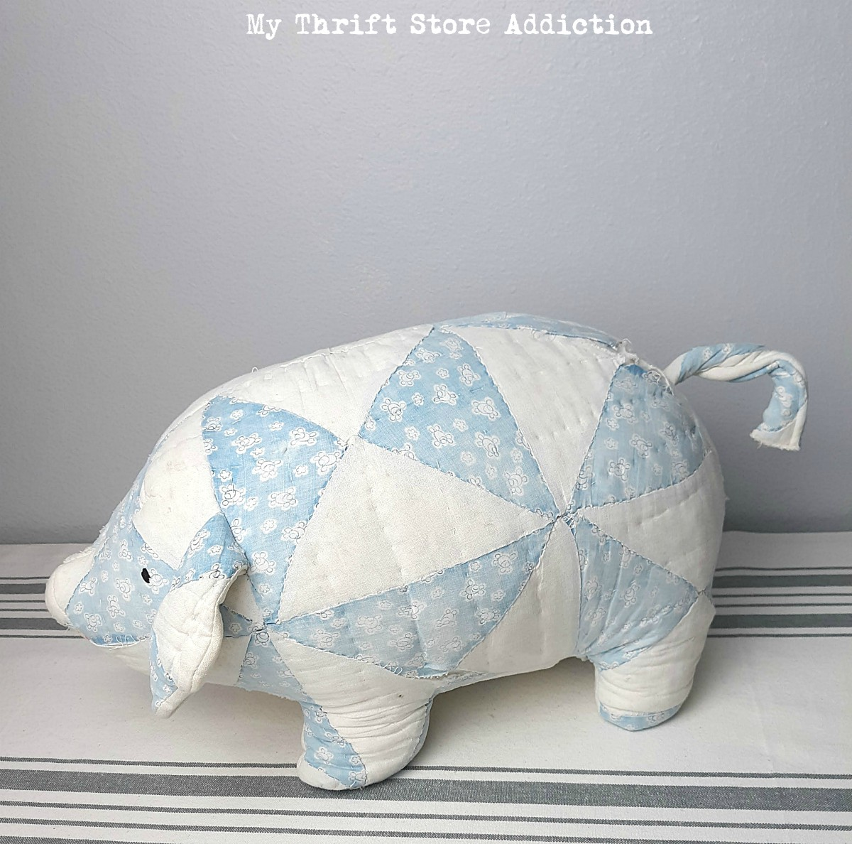 vintage quilted pig